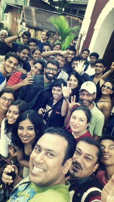 Goainstawalk group selfie