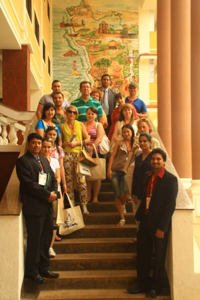 Russian travel agent delegation on a FAM trip in Goa