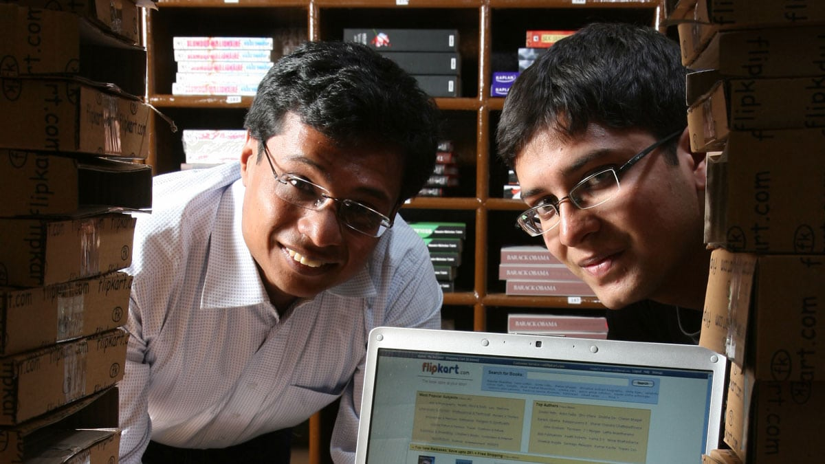 The Founders of Flipkart Sachin Bansal and Binny Bansal