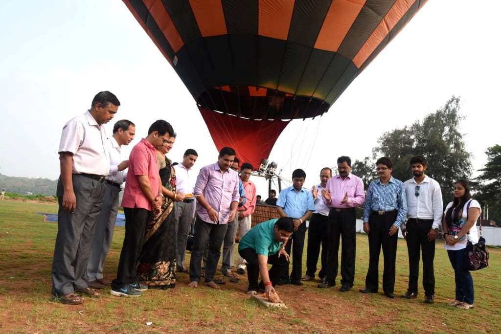 Inauguration of the Project by tourism minister dilip parulekar
