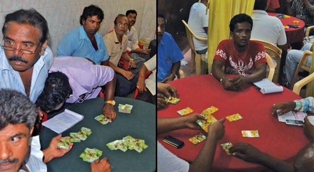 Gambling den empty