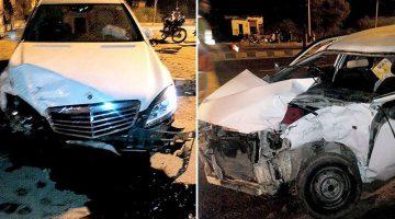 Hema Malini's Mercedes Benz car Crashes 2 year old girl to death
