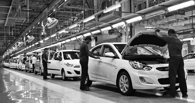Double Standards Cars exported from Chennai,India. Which is the global manufacturing facility of the I10 and I20 models of Hyundai had lower emission levels than the same models sold locally in India