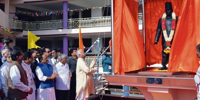 At the inauguration of the new campus of the Hegdewes school, RSS chief Mohan Bhagwat insisted that only regional languages can inculcate patriotism in students.