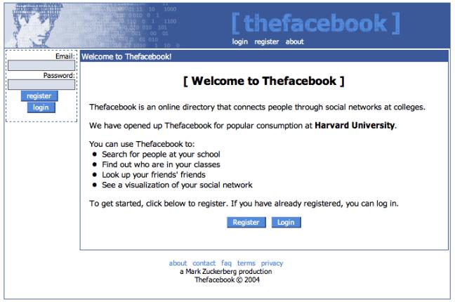 Facebook in 2004