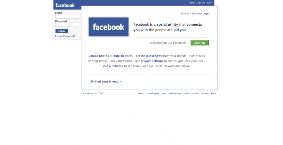 "Facebook's 2007 homepage contained the first instance of its now-synonymous logo and offered the ""latest news"" from friends. (Image used for the Representational purpose only)"