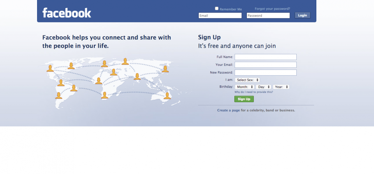 "Facebook gained the ""connected world"" diagram in 2009, which lasted all the way until 2011. (Image used for the Representational purpose only)"