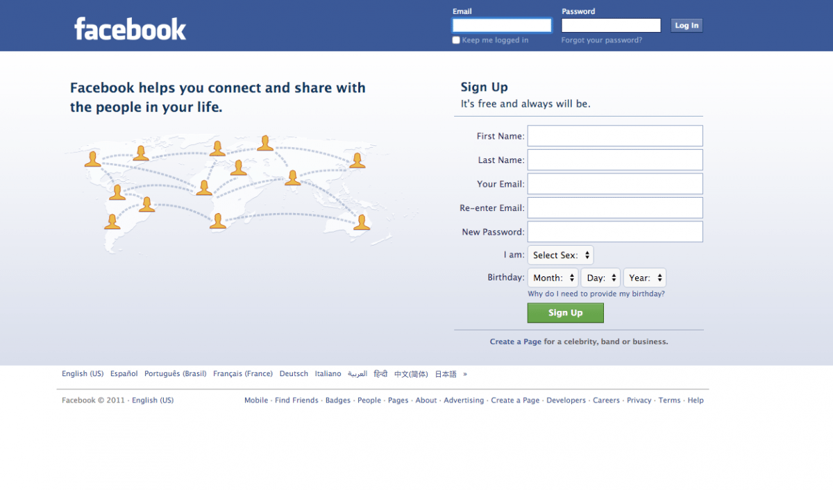 Facebook swapped out the connected world diagram for a phone in 2012 as its users moved from desktop to mobile. Today, over 800 million people access Facebook on mobile every day. (Image used for the Representational purpose only)