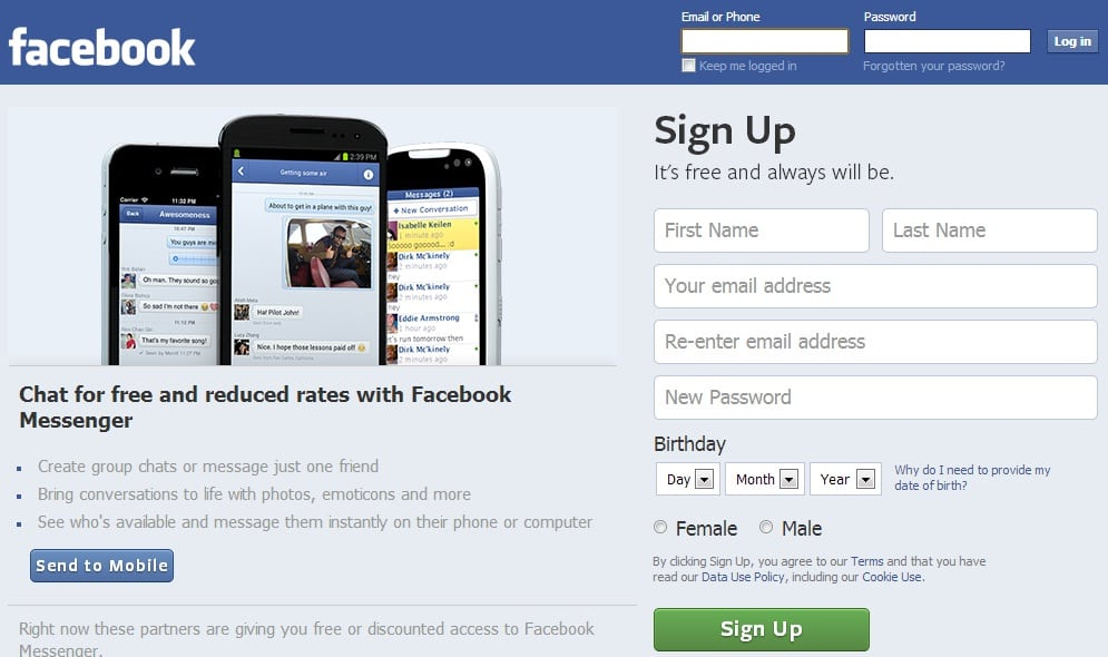 "Facebook built out its mobile app, especially on ""dumb"" phones in 2014, leaving the homepage the same. (Image used for the Representational purpose only)"