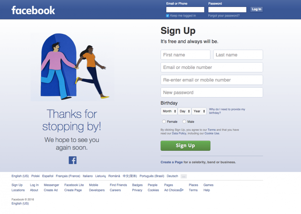 The Facebook homepage on 4th February 2016 on its 12th birthday ((Image used for the Representational purpose only)