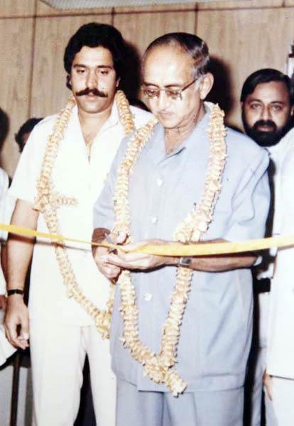 Vijay Mallya and His father Vittal Mallya