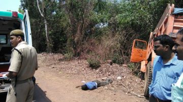 Major accident between Dio and Truck at Bastora Goa killing two on the spot