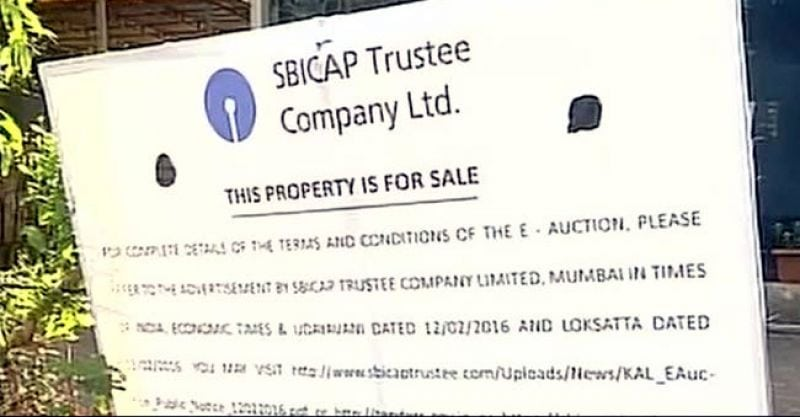 NOTICE PUT BY SBI ON THE MAIN GATE OF KINGFISHER VILLA IMAGE SOURCE: TWITTER