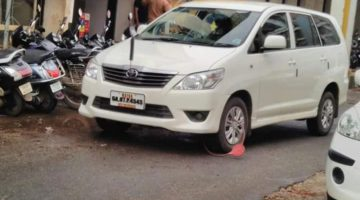Panaji Mayor asks DG to regularize double parking in the city after his vehicle gets clamped by the traffic police