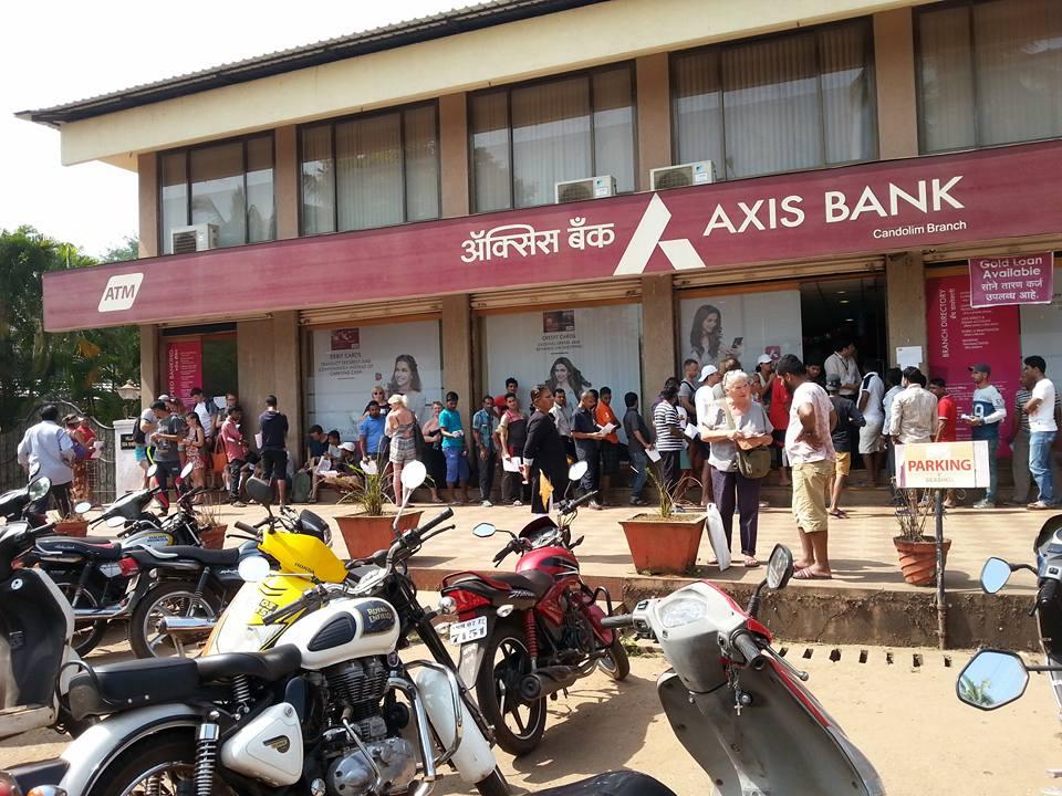 RUCH OUTSIDE THE BANK IN PANAJI GOA