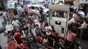 Long queues at petrol pump causes inconvenience to tourists as well as locals