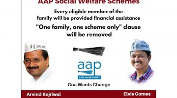 AAP Makes Formal Announcement of Welfare Schemes for Goans in the backdrop of 2017 Polls
