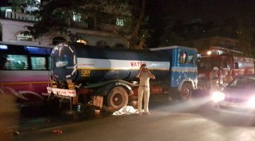 Another Accident at Vasco 27-year-old crushed to death under the wheels of water tanker