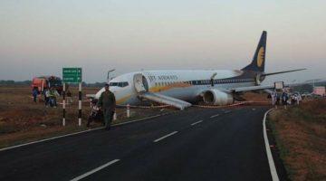 Goa – Mumbai Jet Airways Flight Skid on Runway 15 Passengers Injured