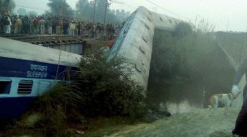Another Railway Accident in Kanpur, 15 Coaches derailed, 2 dead, several injured