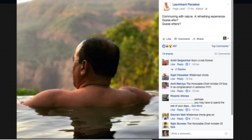 The Photo of Goa's Chief Minister Laxmikant Parsekar Half Dipped In The Infiniti Pool Goes Viral on Social Media