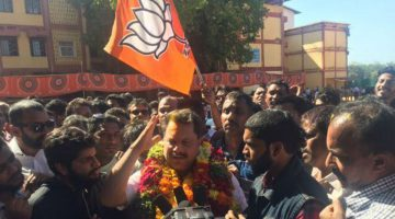 THE GAME HAS JUST BEGAN – BJP SUPPORTERS FROM CURCHOREM DEMANDS NILESH CABRAL TO BE ELEVATED AS CABINET MINISTER