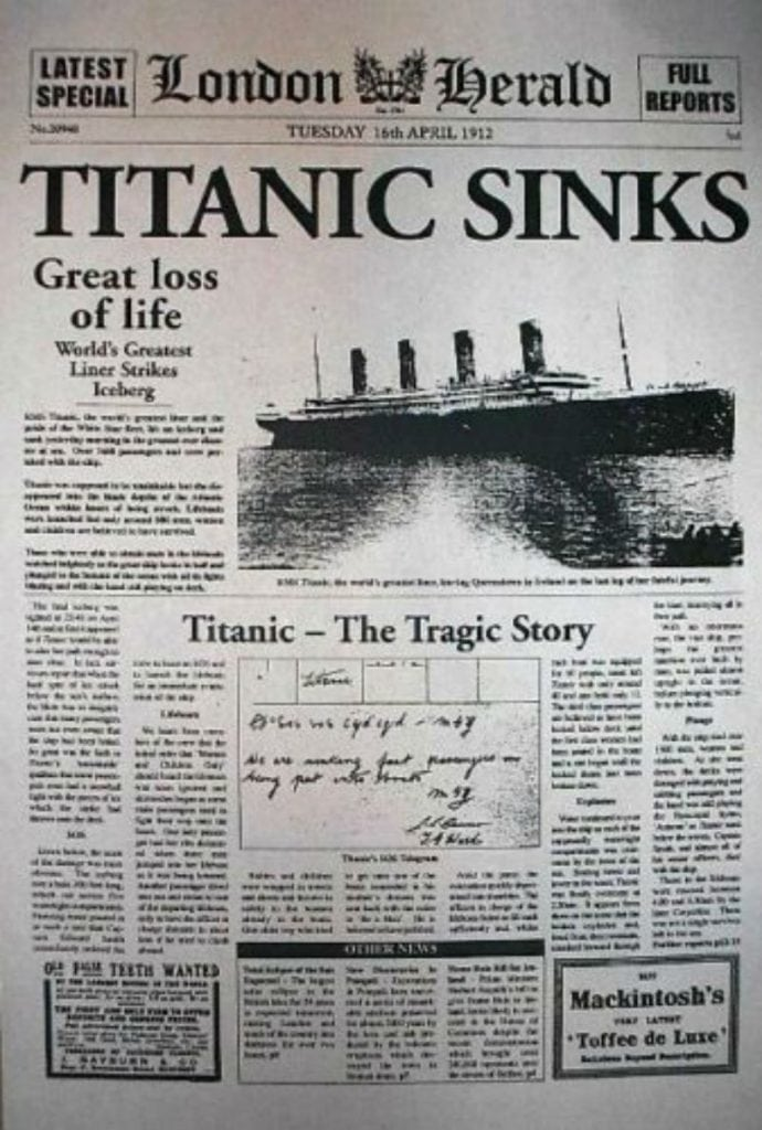 sinking of the titanic research paper