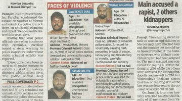MERCES ATTACK CASE – ALL THE ACCUSED ARE HISTORY SHEETERS, GOA CM ORDERS POLICE TO CRACK DOWN ON THE HISTORY SHEETER IN THE STATE