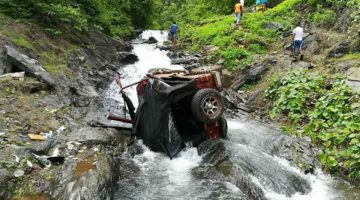 OFF ROADING ADVENTURE COST A LIFE, TO A TEENAGER, AT SALELI WATERFALL, IN VALPOI, NORTH GOA