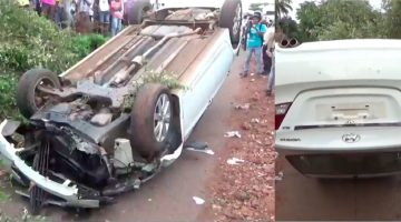 DEADLY ACCIDENT AT VASCO NEAR MES COLLEGE, A SPEEDING CAR RAMMED INTO THE MOTORBIKES INJURING TWO PEOPLE