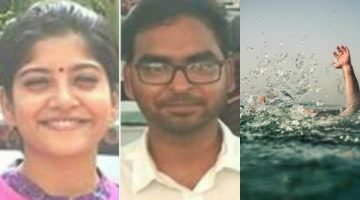 TWO STUDENTS FROM AHMEDABAD DROWN AT CANDOLIM BEACH THIS IS THE THIRD CASE OF DROWNING IN JUST ONE WEEK'S TIME