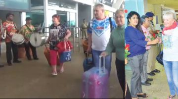 First Charter Flight with 519 Russian Tourists Lands in Goa, Announcing the official beginning of the Season