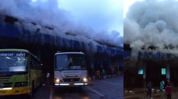 Fire Broke out at Kadamba Bus Stand – RTO & KTCL offices Completely Gutted in the Fire, All Important Documents Turned to Ashes