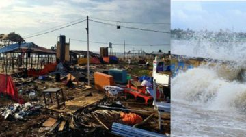 CYCLONE DEVASTATE MORE THAN 100 SHACKS IN THE COASTAL AREA, FULL MOON ADDS TO SEVERITY, GOVERNMENT PLANNING TO DECLARE STATE DISASTER