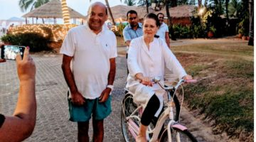 The Former Congress President Sonia Gandhi is in Goa to Spend her Vacation and Celebrate New Year