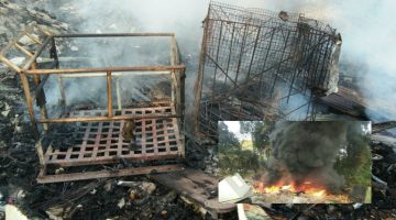 The Fire Broke Out At A Scrapyard in Camarabhat, The City's Famous Slum Area