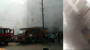 Fire Broke Out Near Sub Registrar's Office in Mapusa, Two Shops Gutted in Fire